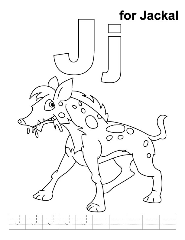 coyote jackal coloring pages for kids preschool and kindergarten. Black Bedroom Furniture Sets. Home Design Ideas