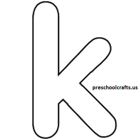 k template for alphabet crafts