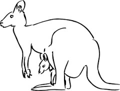 kangaroo coloring pages idea for preschool