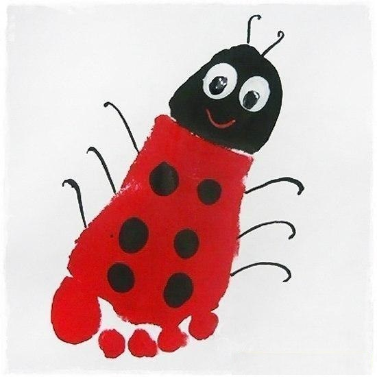 kids-hand-and-food-print-ladybug-spring-craft