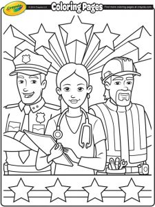 İnternational labor day coloring page