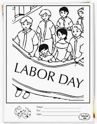 Labor Day Coloring Pages For Kindergarten