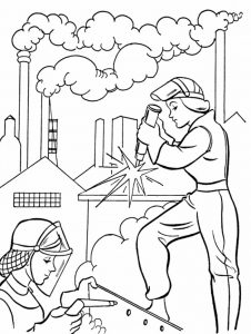 İnternational labor day coloring pages for children