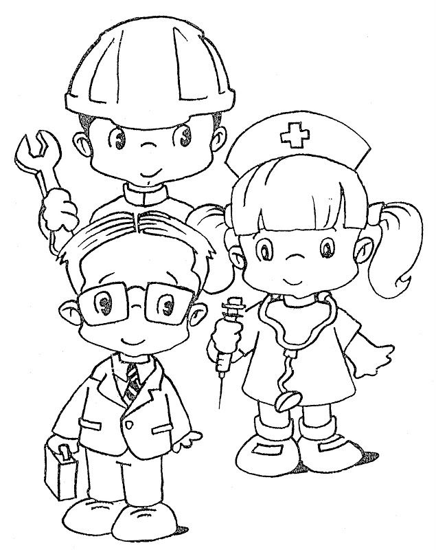Labor Day Free Coloring Page For Kids