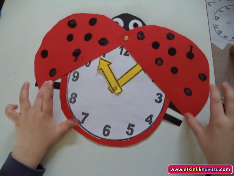 ladybug craft for clock