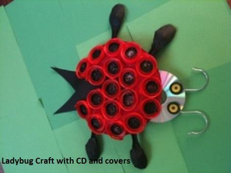ladybug craft from cd