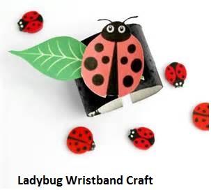 ladybug craft idea for wristband