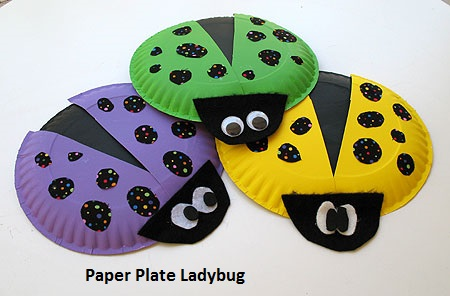 ladybug craft idea from paper plate