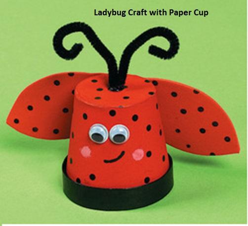 ladybug crafts idea for spring
