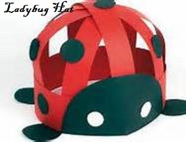 ladybug hat craft for kids