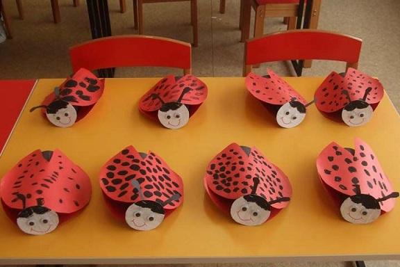 ladybug spring crafts idea for preschool