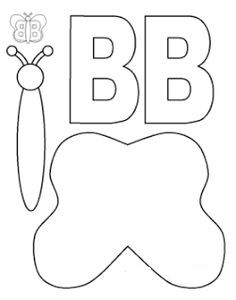 Letter b craft templates for kindergarten preschool crafts letter b craft templates for kindergarten spiritdancerdesigns Images