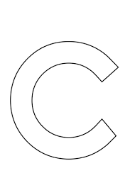 Letter c crafts for preschool preschool and kindergarten for Large letter c template