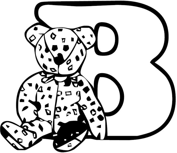 letter b preschool coloring pages - photo#17
