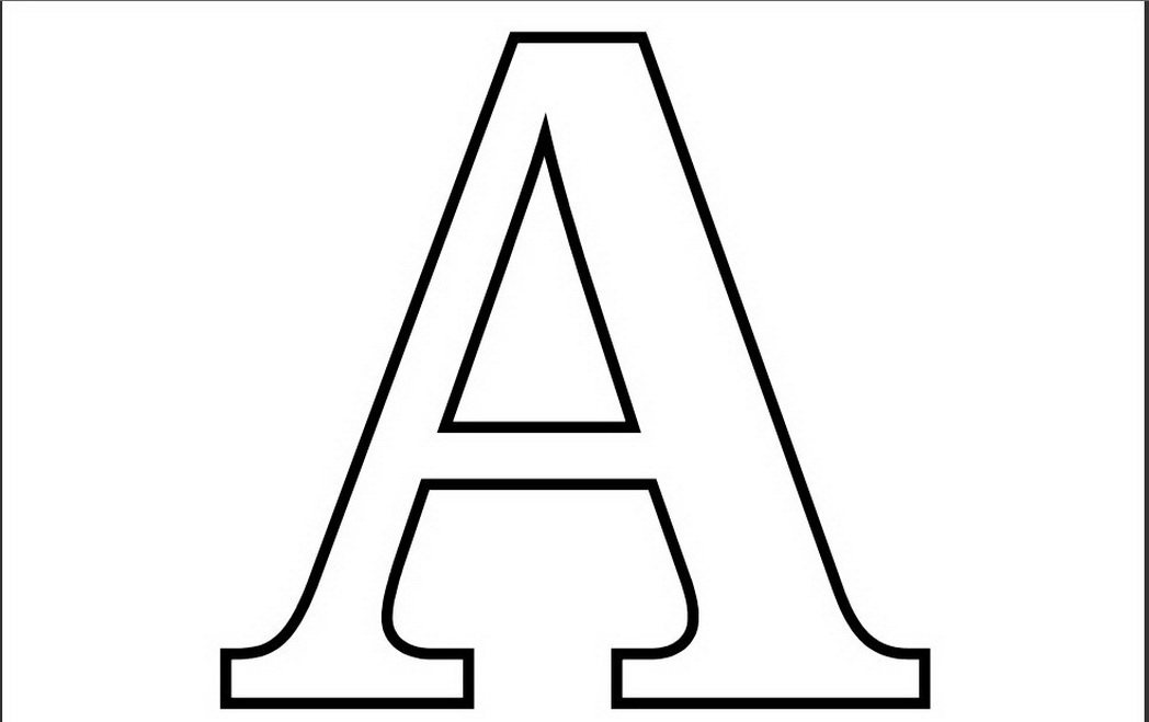 Letter A Coloring Pages Preschool And Kindergarten The Letter A Coloring Pages Printable