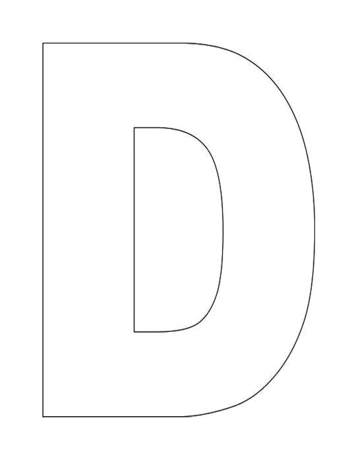 Letter d crafts for preschool preschool and kindergarten for Free printable alphabet templates