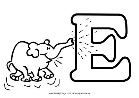 letter e coloring - Coloring For Preschool