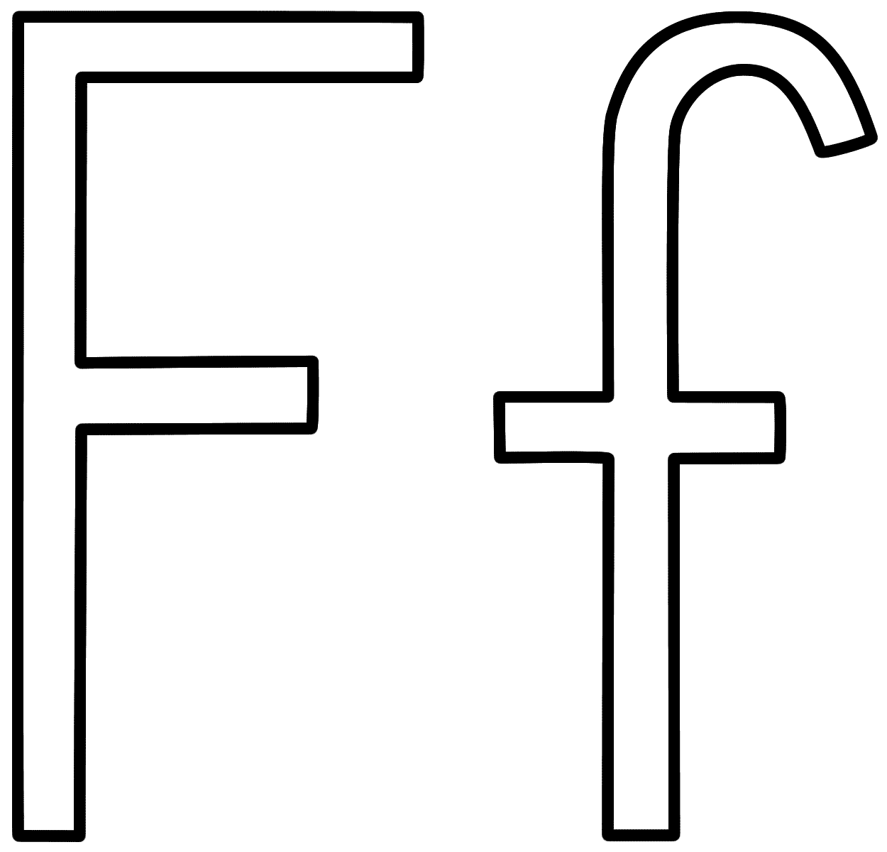 Letter F Printable Coloring Pages For Preschool