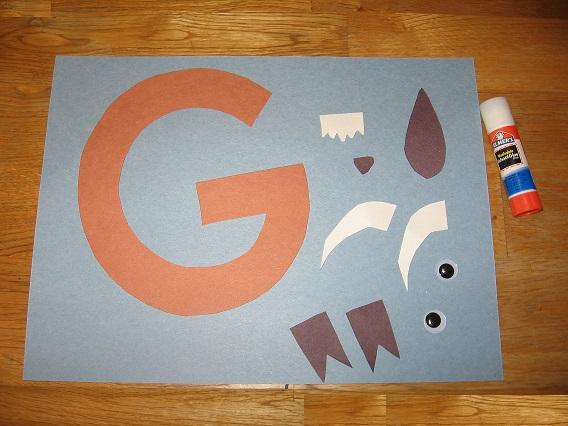 letter g craft pattern