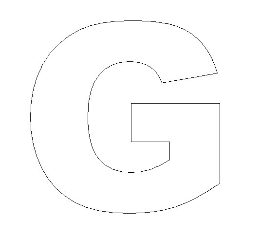 Slobbery image with letter g printable