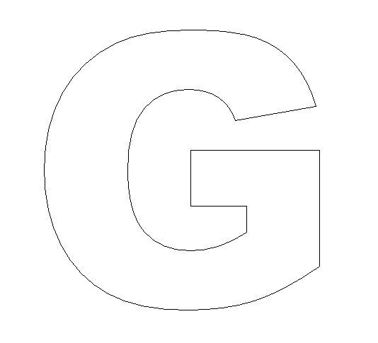 Gutsy image inside letter g printable