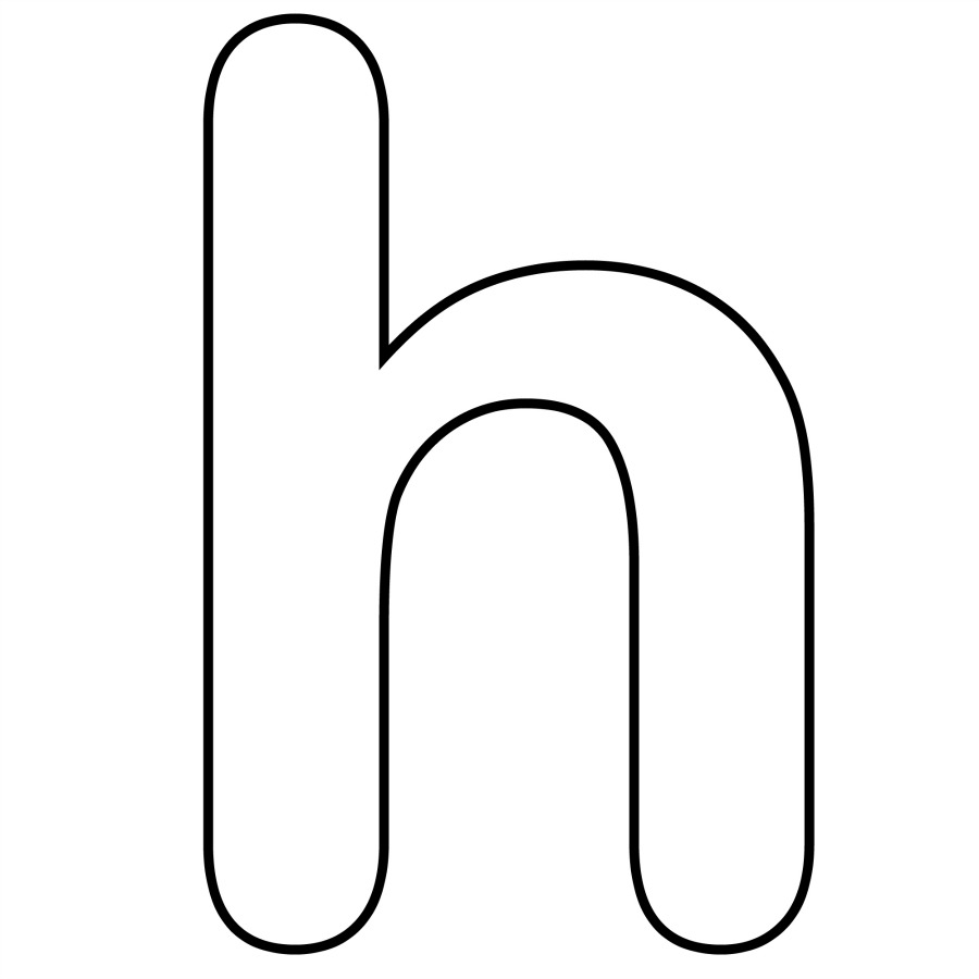 letter h coloring pages
