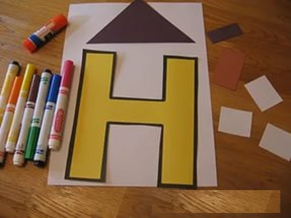 letter h craft -home craft-materials