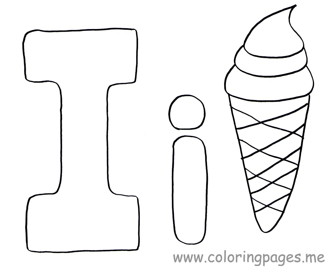 letter i coloring pages preschool crafts - I Colouring Pages