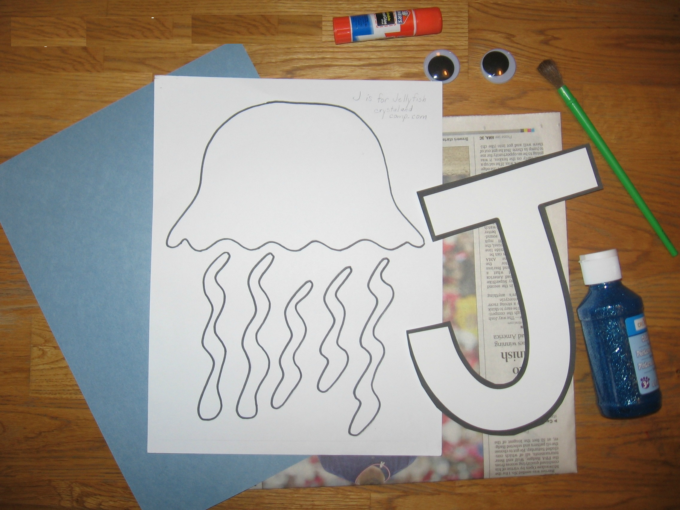 letter j craft templates