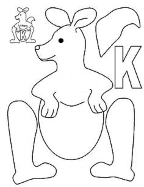 Letter k crafts preschool and kindergarten for Kangaroo puppet template