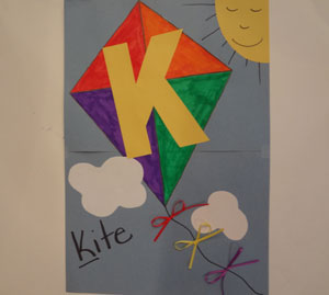 Letter K Kite Craft For Kids
