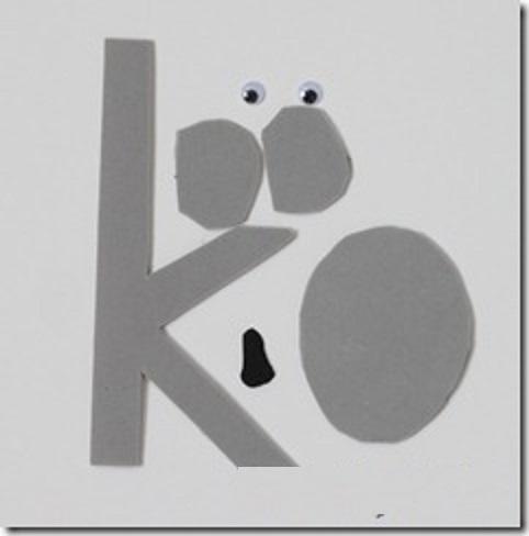 letter k template for alphabet activities