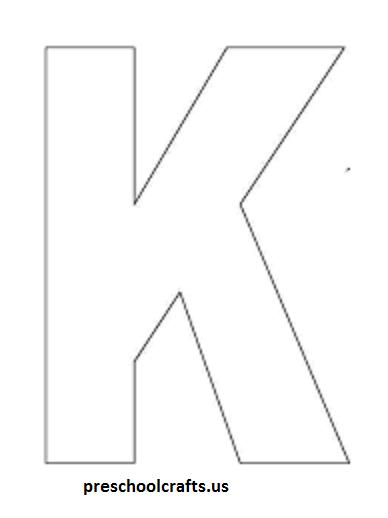 Letter K Crafts - Preschool and Kindergarten