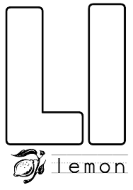 l alphabet coloring pages - photo #23