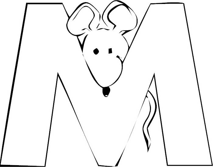 Letter M Coloring Pages Preschool Crafts Letter M Coloring Page