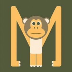 letter m crafts for monkey