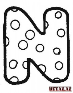 Letter N Coloring Pages For Preschool