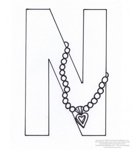 letter n coloring pages for-preschool-kids