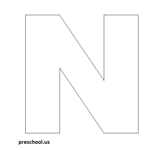 letter n template for kids preschool crafts. Black Bedroom Furniture Sets. Home Design Ideas