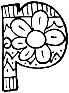 letter p coloring pages for kids