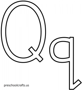 letter-q coloring pages-for preschool,