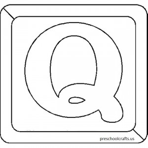 letter q coloring pages for -preschool,