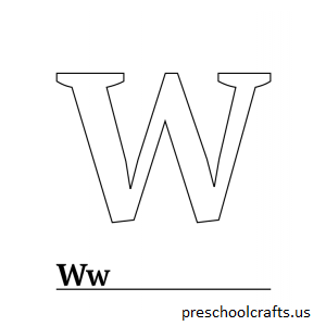 letter w coloring pages alphabet