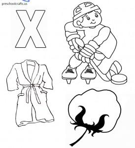 letter x coloring page alphabet