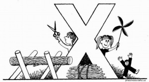 letter x coloring pages alphabet
