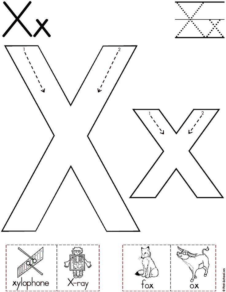 10 best images about letter x on pinterest alphabet worksheets