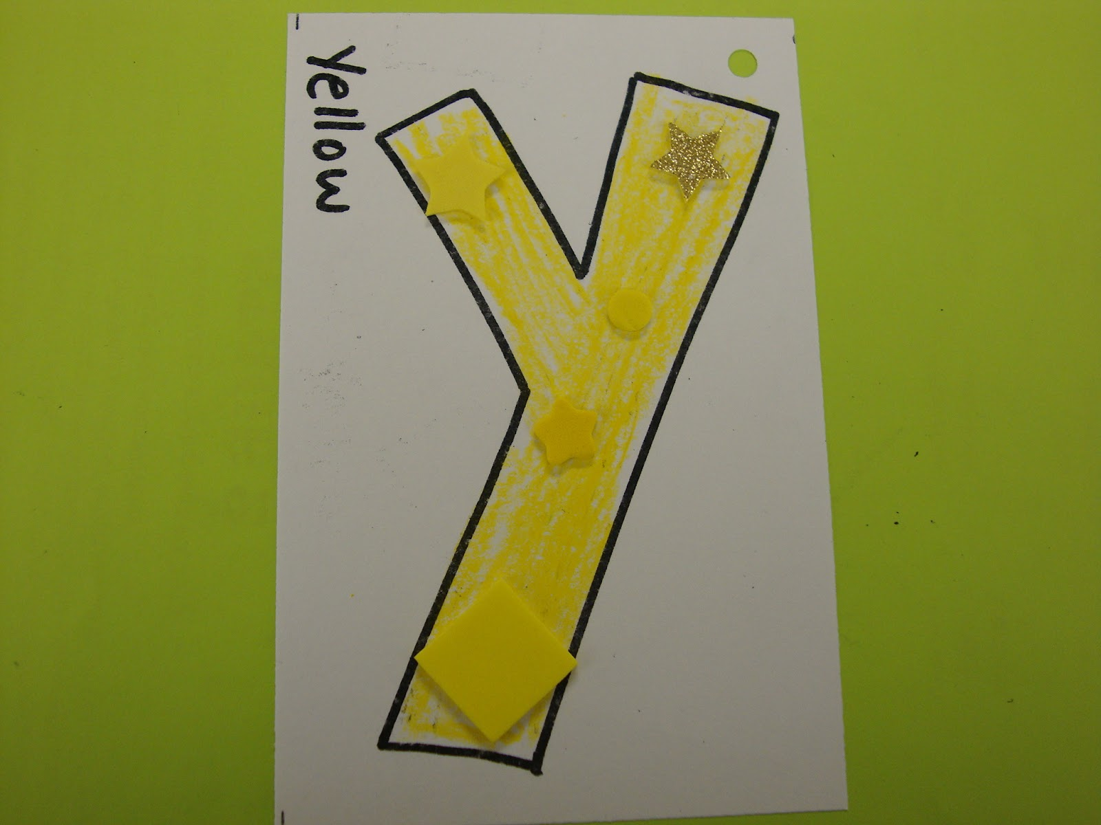 Letter y crafts - Preschool and Kindergarten