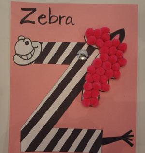 letter z craft zebra