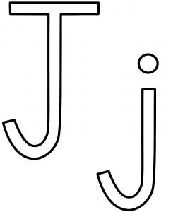 letter_j coloring