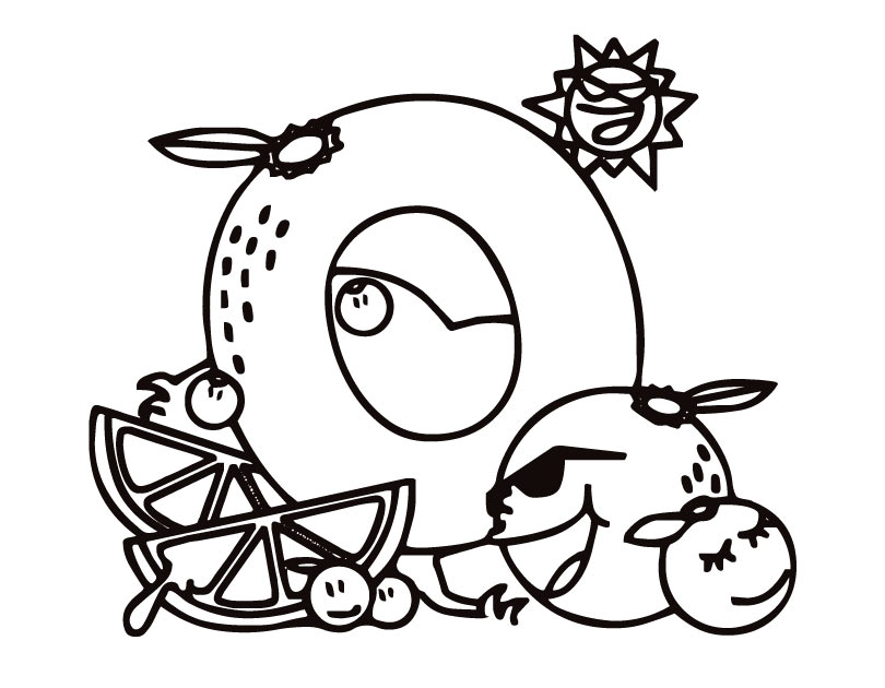 o letter o coloring pages for kids, letter o coloring ...
